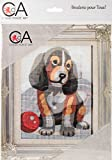RTO Collection D'art Stamped Needlepoint Kit 14X18cm-Puppy With Ball
