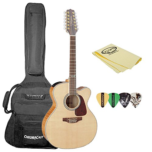 Takamine GJ72CE-12 NAT-KIT-1 Jumbo Cutaway 12-String Acoustic-Electric Guitar