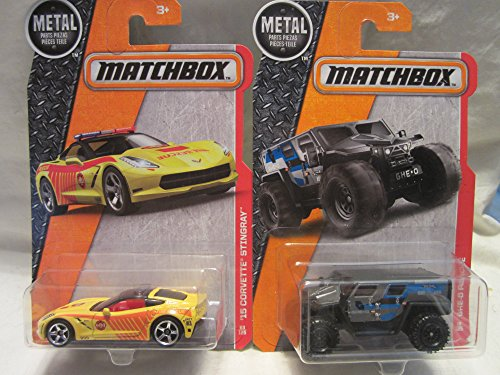 Matchbox MBX Heroic Rescue '15 Corvette Stingray & GHE-O Rescue Die Cast 1/64 Scale 2 Car Bundle!