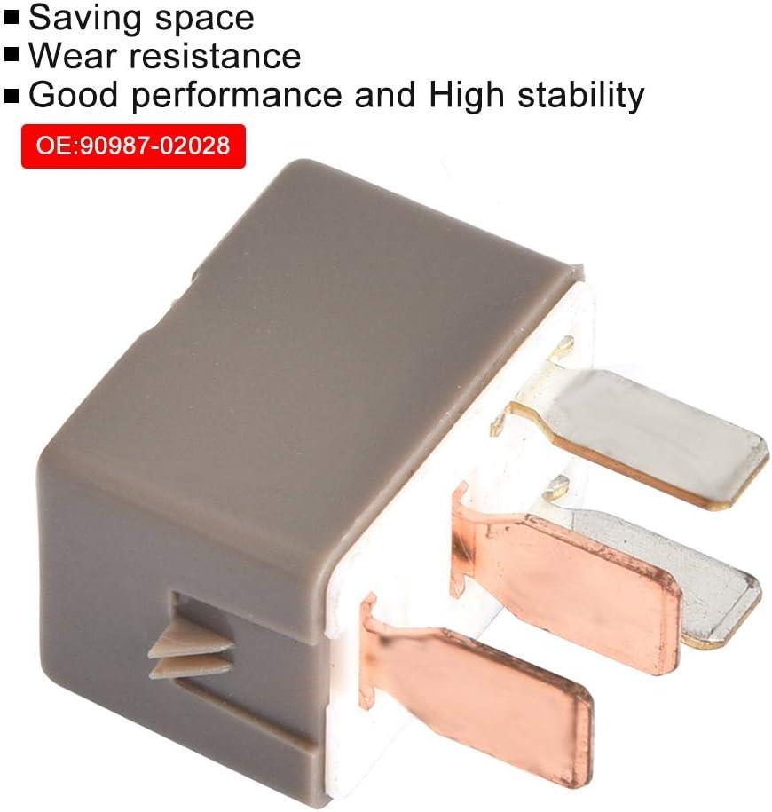 Klimaanlagen Kupplungsrelais f/ür 90987-02028 Gorgeri A//C Relais Klimaanlagen Kupplungsrelais