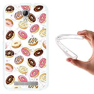 Funda Doogee Valencia 2 Y100 - Y 100 Pro, WoowCase [ Doogee Valencia 2 Y100 - Y 100 Pro ] Funda Silicona Gel Flexible Donuts, Carcasa Case TPU Silicona - Transparente
