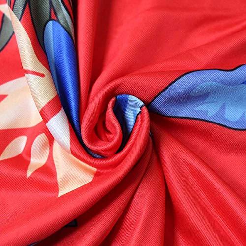Deportes la Las tamaño de Medias la Color impresión la Red de Delgadas de S Vestido de del Medias Flor los Manera de Cuello qnpw1O1Ex
