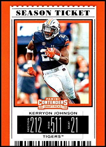 (2019 Panini Contenders Draft Picks Season Ticket #59 Kerryon Johnson Auburn Tigers Official Collegiate Football Card of the NFL Draft)