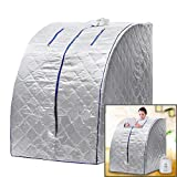 afferty Portable Steam Sauna, SPA Therapeutic Slim Weight Loss Indoor Health Care US Plug(US Stock)