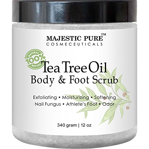 Price comparison product image Majestic Pure Tea Tree Oil Body and Foot Scrub - 12 oz