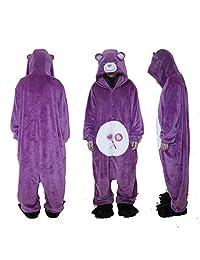 XMiniLife Purple Bear Adult Halloween Kigurumi Onesie/M