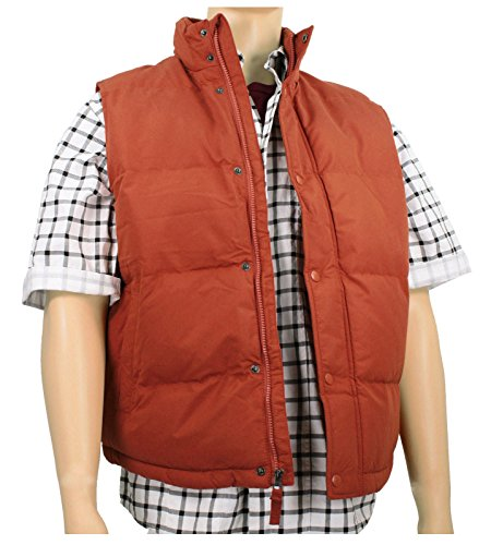 [Men's Marty McFly Puffer Vest Rust (X-Large)] (Marty Mcfly Costumes)