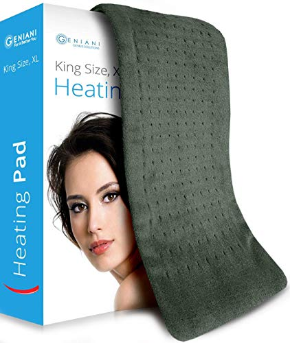 XL Heating Pad - Electric Heating Pad for Moist and Dry Heat Therapy - Fast Neck/Shoulder/Back Pain Relief at Home - 12