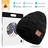 BLUEHRESY Bluetooth Beanie Hat Wireless Music Hat Knit Cap with Speakers & Mic for Men Women (Black)