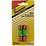 Bussmann BP/FRN-R-20 20 Amp Fusetron Dual Element Time-Delay Current Limiting Class RK5 Fuse, 250V Carded UL Listed, by Bussmann
