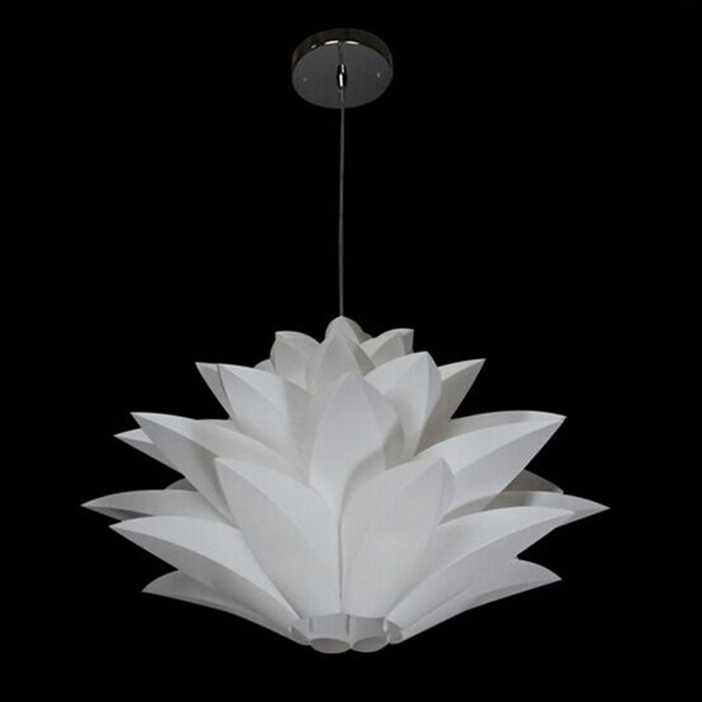 suspension lighting fixtures. Excelvan DIY Lamp Shades Kit Lotus Light Chandelier IQ PP Lampshade Pendant Hanging Suspension Lightshade For Ceiling Lights Bedroon Living Room DIA:53CM Lighting Fixtures G