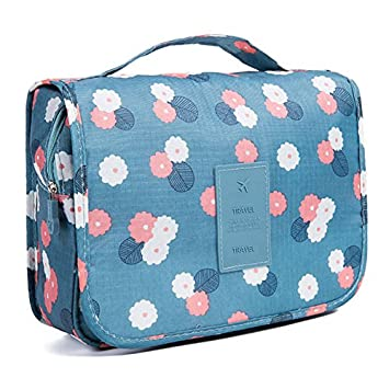 Amazon.com   Merssavo Travel Cosmetic Storage MakeUp Bag Folding Hanging  Toiletry Wash Organizer Pouch (1)   Beauty 8b11ec23d6a86