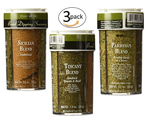 - Dean Jacobs Bread Dipping Seasonings, Large, 4.0-Ounce (4 Spice Variety Pack) 3 Pack
