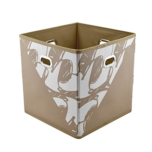 Merc & Will Foldable Storage Box Bins - 4 Pack - Fabric Organizer Cubes to Create Your Own Unique Shelving Design - Compatible with Closetmaid Units