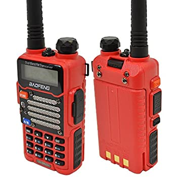 Baofeng Red Uv-5r V2+ (Usa Warranty) Dual-band 136-174400-480 Mhz Fm Ham Two-way Radio, Improved Stronger Case, Enhanced Features 0