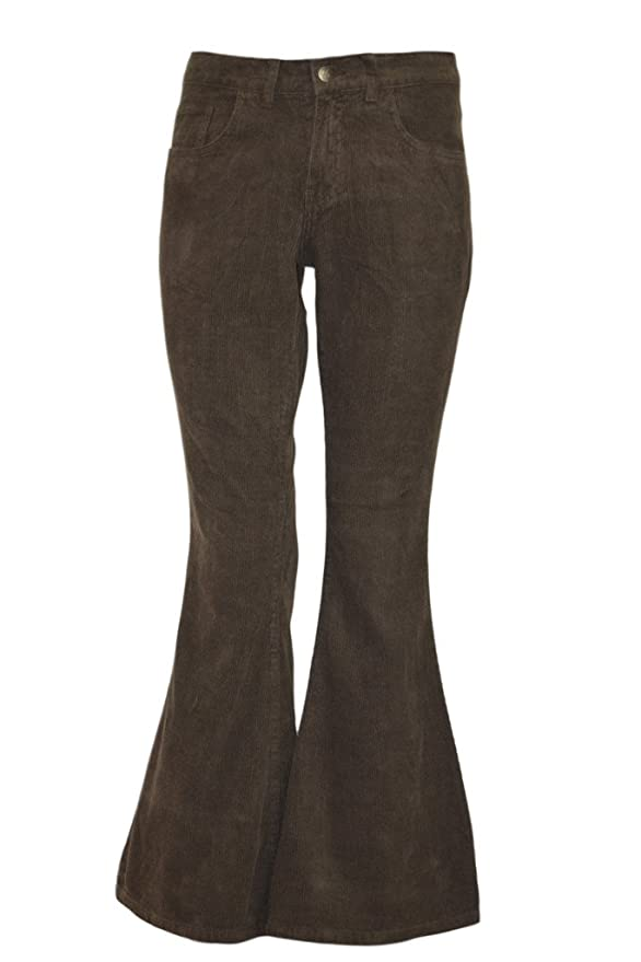 1960s Style Men's Clothing, 70s Men's Fashion  60s 70s Vintage Retro Brown Corduroy Bell Bottom Flares $26.95 AT vintagedancer.com