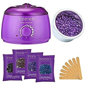 Yeelen Hair Removal Kit Hot Wax Warmer Waxing Kit Wax Melts with 4 Flavors  Hard Wax Beans and 10