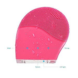 TBAO Face Brushes Electric Silicone Wash Face Brush Face Cleaning and Massager for Face Polish and Scrub, New Skin Care Tools Natural Silicone Facial Cleansing Brush Facial Massager Cleanser
