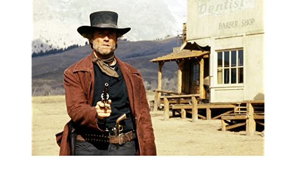 Pale Rider Clint Eastwood Drawing Gun In Western Town Classic 24x36
