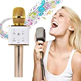 Elevin(TM)KTV Q7 Wireless Karaoke Handheld Microphone for Music Playing and Singing Anytime,USB KTV Player Bluetooth Speaker for Apple iPhone Android Smartphone