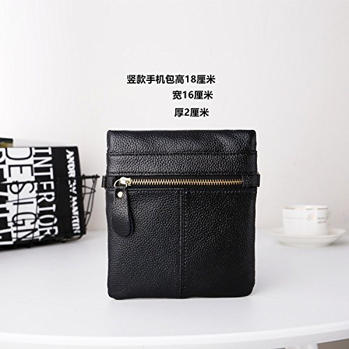 Wallet Women Daily bag Bag Size TWOPAGES purse body Cross card Small Fashion Casual Green Dark Shoulder Bag Leather qxwUZZWEz