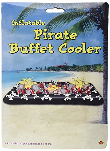 Beistle Inflatable Pirate Buffet Cooler, 28-Inch by 4-Feet 53/4-Inch -
