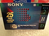 "Sony 2HD 3.5"" IBM Formatted Micro Floppy Disks Double Sided (25 pack) Multi Color"
