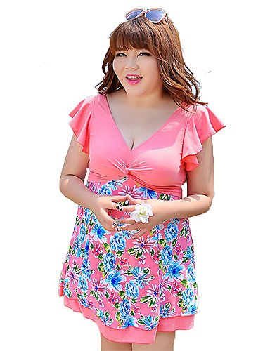 skt-swimwear Plus Größe XL–6X L Sommer Damen Kleid groß Größe Bademode One Stücke Marke Frauen Kleid Badeanzug Vestidos Femininos