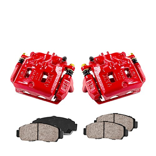 - CCK01138 [2] FRONT Performance Loaded Powder Coated Red Caliper Assembly + Quiet Low Dust Ceramic Brake Pads