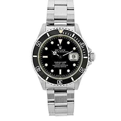 Rolex Submariner automatic-self-wind mens Watch 16610BLK (Certified Pre-owned)
