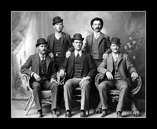 8 x 10 All Wood Framed Photo The Real Butch Cassidy Gang 1900