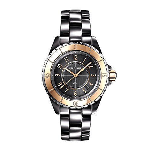 Chanel J12 Grey Dial Titanium Ceramic Automatic Ladies Watch H4197
