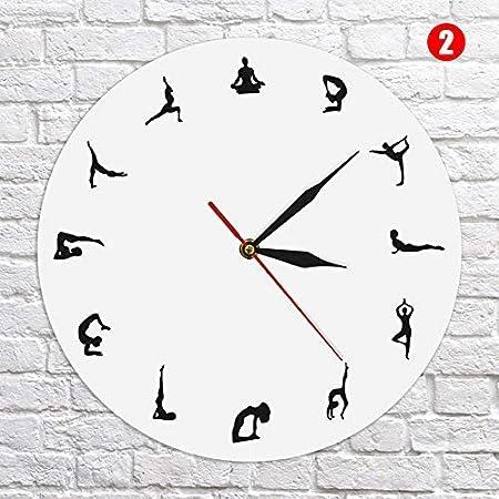 HoaJeo Reloj de Pared, Yoga Posturas Reloj de Pared ...