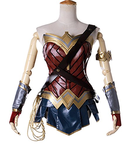 Wonder Woman Adult Halloween Cosplay Costume 2017 (Large Image)