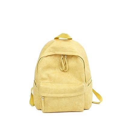 Eeayyygch Mochilas Escolares Mochila pequeña Mochila Cuadrada pequeña Rosa de Moda (Color : Amarillo,