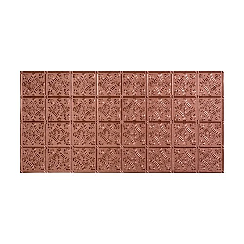 Fasade Easy Installation Traditional 1 Argent Copper Glue Up Ceiling Tile / Ceiling Panel (2' x 4' Panel)