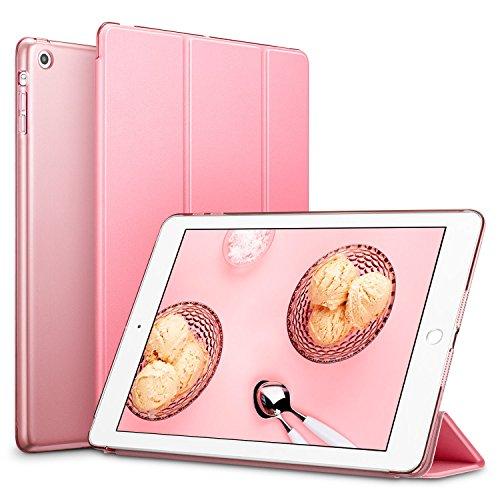 (ESR Yippee Trifold Smart Case for iPad Mini, Lightweight Trifold Stand Case with Auto Sleep/Wake, Microfiber Lining, Hard Back Cover for iPad Mini 1/iPad Mini 2/iPad Mini 3 (Sweet Pink))
