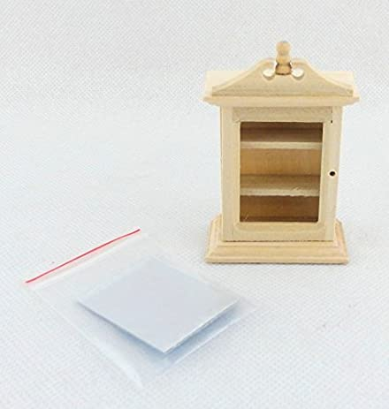 Merveilleux Melody Jane Dolls Houses House Miniature Unfinished Furniture Bare Wood  Bathroom Wall Cabinet 1:12