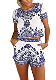 Best  - FOREVER YUNG Women's Casual Floral Printed Short Sleeve Review