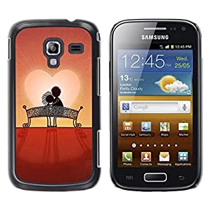 LECELL--Funda protectora / Cubierta / Piel For Samsung Galaxy Ace 2 I8160 Ace II X S7560M -- Love Couple Sweet Sunset Romantic --