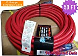 10 3 extension cord - Century Contractor Grade 50 ft 10 Gauge Power Extension Cord 10/3 Plug, 50 ft outdoor extension cord, Great for Commercial Use, Gardening, and Major Appliances cord With Lighted Ends (50 ft,red)
