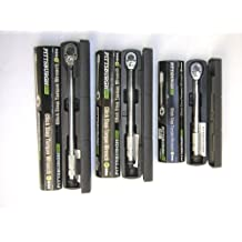 Set of 3 Pittsburgh Pro Reversible Click Type Torque Wrench Sizes 1/4, 3/8, 1/2 by Pittsburgh Pro