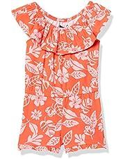 NAUTICA Big Girl's Girls' Fashion Romper Shorts, Graphic Soft Pink, XL16