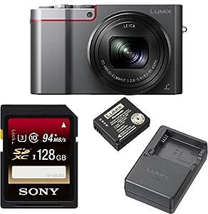 DMC-ZS100 Camera, 20.1 MP, in Sensor, 4k + Panasonic DMW-ZSTRV +128GB