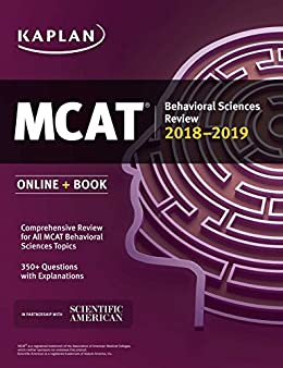 Download for free MCAT Behavioral Sciences Review 2018-2019: Online + Book