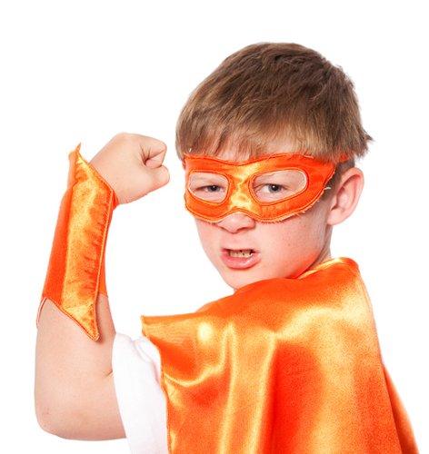 Orange Superhero Eye Mask/ Powerbands