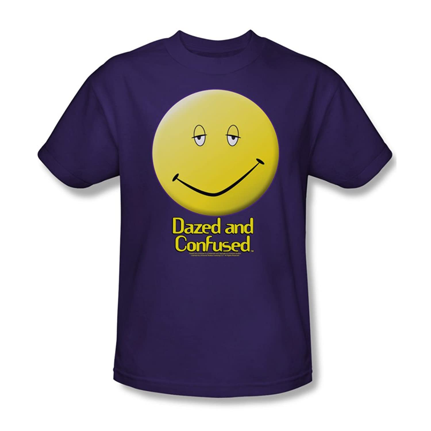 Dazed And Confused - Mens Dazed Smile T-Shirt In Purple