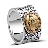 MetJakt Virgin Mary Solid 925 Sterling Ring with Scripture for Unisex Anniversary Religious Fine Jewelry (10)
