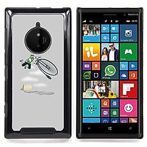 GIFT CHOICE / Teléfono Estuche protector Duro Cáscara Funda Cubierta Caso / Hard Case for Nokia Lumia 830 // Vintage Funny Bmx Hipster Grey //