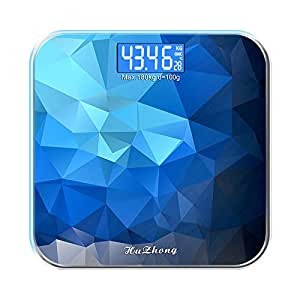 """EDTara Digital Body Weight Scale, Precision Household Weighing Machine, Bathroom Scales with 180kg, LED Backlight Display and""""Step-On"""" Technology Deep sea Blue"""